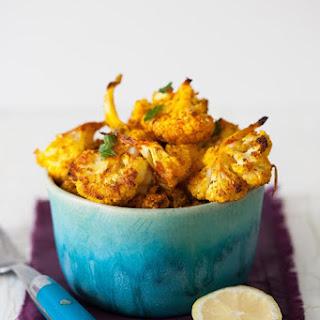 Roasted Cauliflower Bites with Spices, Garlic & Lemon.