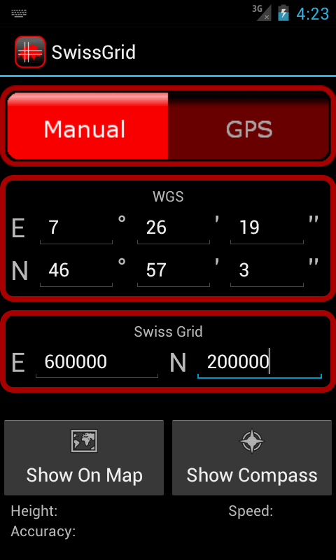 SwissGrid - screenshot