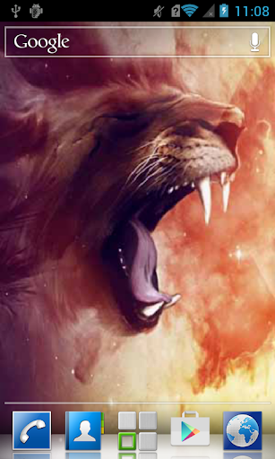 Yawning lioness LWP