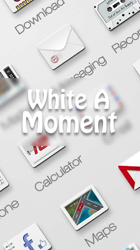White A Moment GO Theme