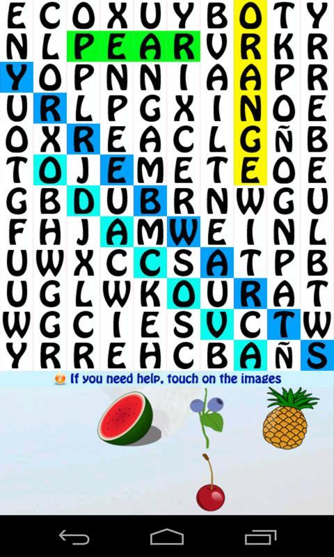 Learn Spanish Word Search Game - screenshot