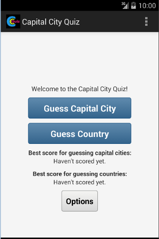 Capital City Quiz