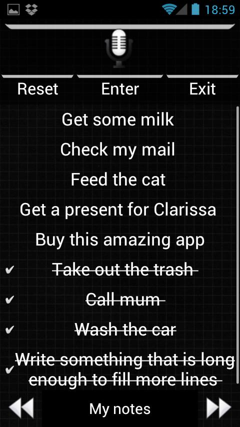 Shopping List Voice Memo Lite - screenshot
