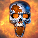 Burning Skull Video Wallpaper icon