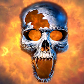 Burning Skull Video Wallpaper
