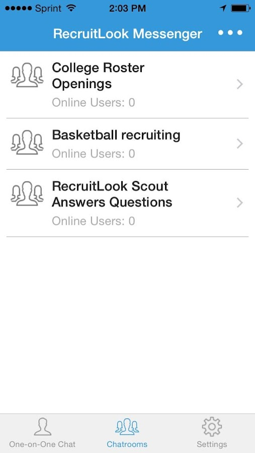 RecruitLook Messenger- screenshot