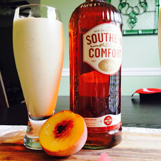 Boozy Peach Milkshakes