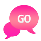 GO SMS - Bubble Pink icon
