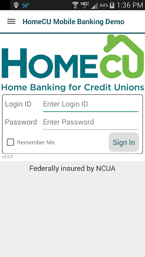 HomeCU Mobile Banking Demo