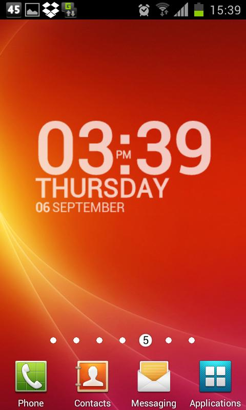 TypoClock - screenshot