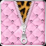 Luxury Pink Zipper Lock Screen