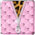 Luxury Pink Zipper Lock Screen icon