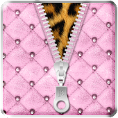 Luxury Pink Zipper Lock Screen