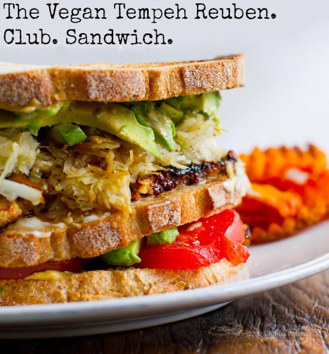 Tempeh Reuben Club Sandwich Recipe