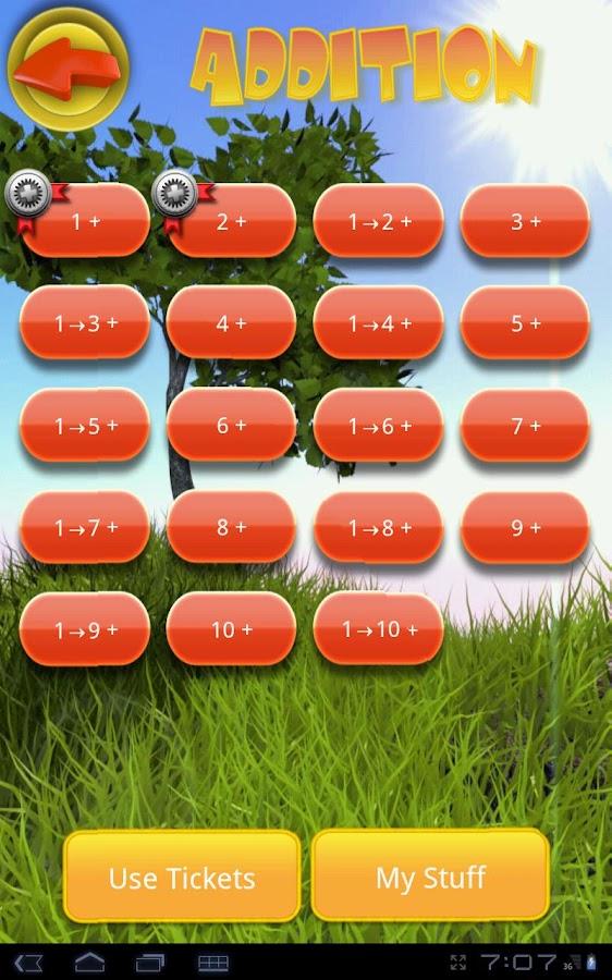 Whack A Math Fact- screenshot