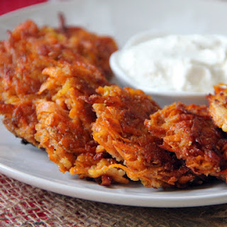 Cinnamon Sweet Potato + Apple Latkes