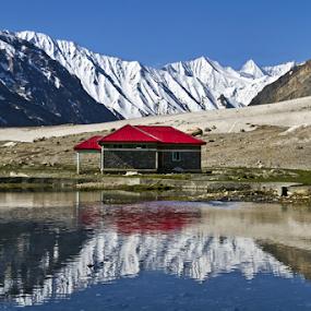 Reflection by Soumen  Basu Mallick - Landscapes Mountains & Hills ( reflection, himalaya, peak, snow, kashmir, lake, heights )