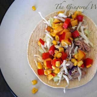 Pork Tacos with Summer Corn Nectarine Salsa