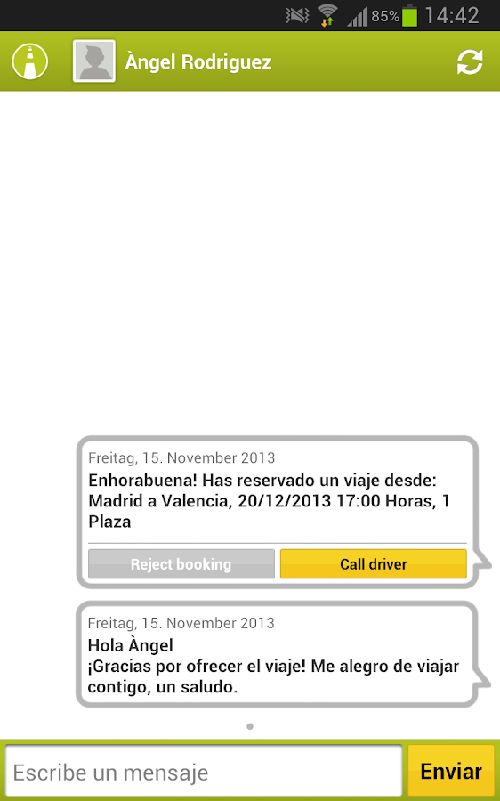 carpooling.es- screenshot