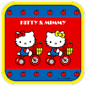 Hello Kitty AppleBicycle Theme icon