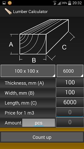 Calculator lumber