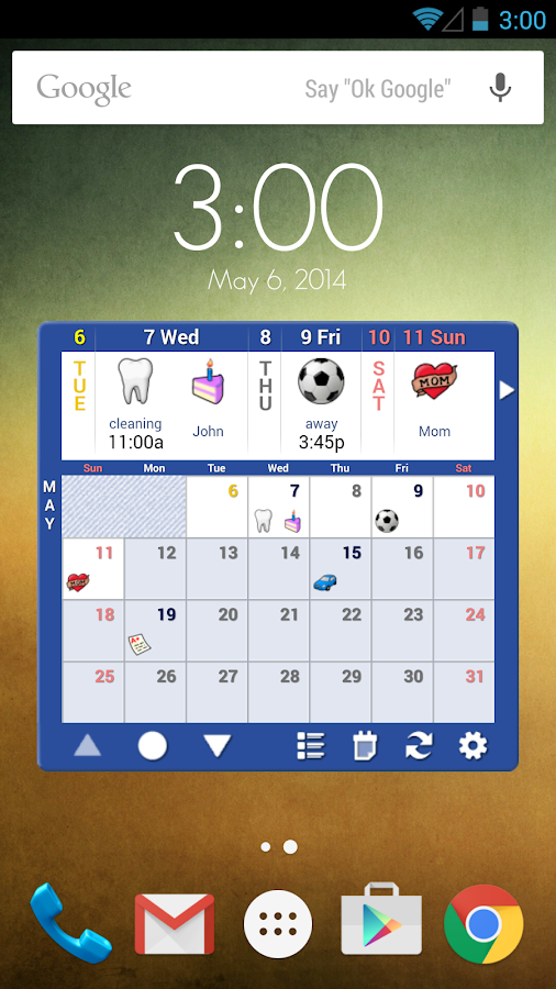 Blik Calendar PRO License Key - screenshot