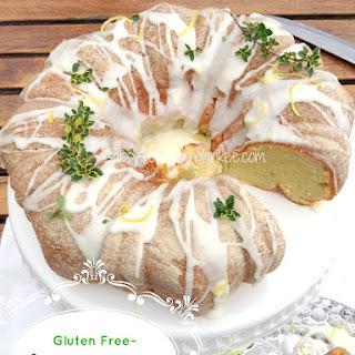 Lemon Thyme Cake with Lemon Glaze {Gluten Free} and Cookbook Giveaway!
