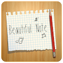 BEAUTIFUL NOTE CLAUNCHER THEME icon