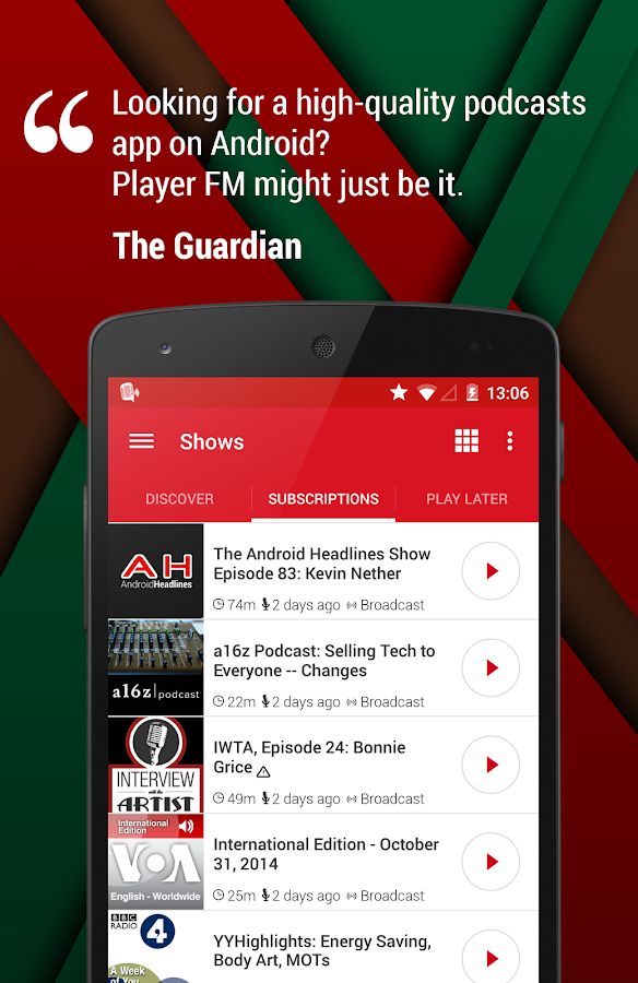 Player FM Podcast App - screenshot