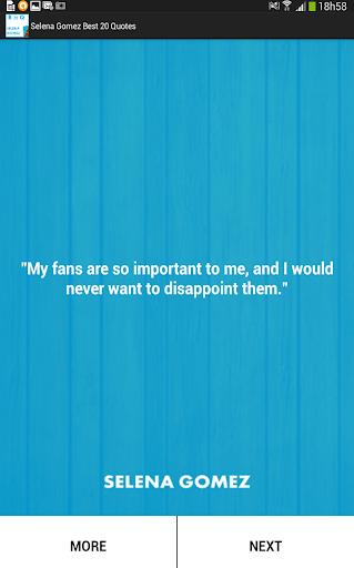 Selena Gomez Best 20 Quotes