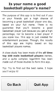 Basketball Player Names - screenshot thumbnail