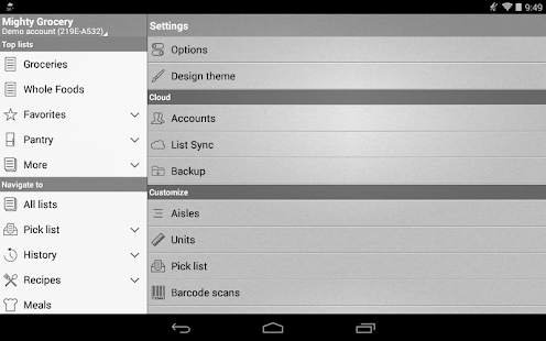 Mighty Shopping List Free- screenshot thumbnail