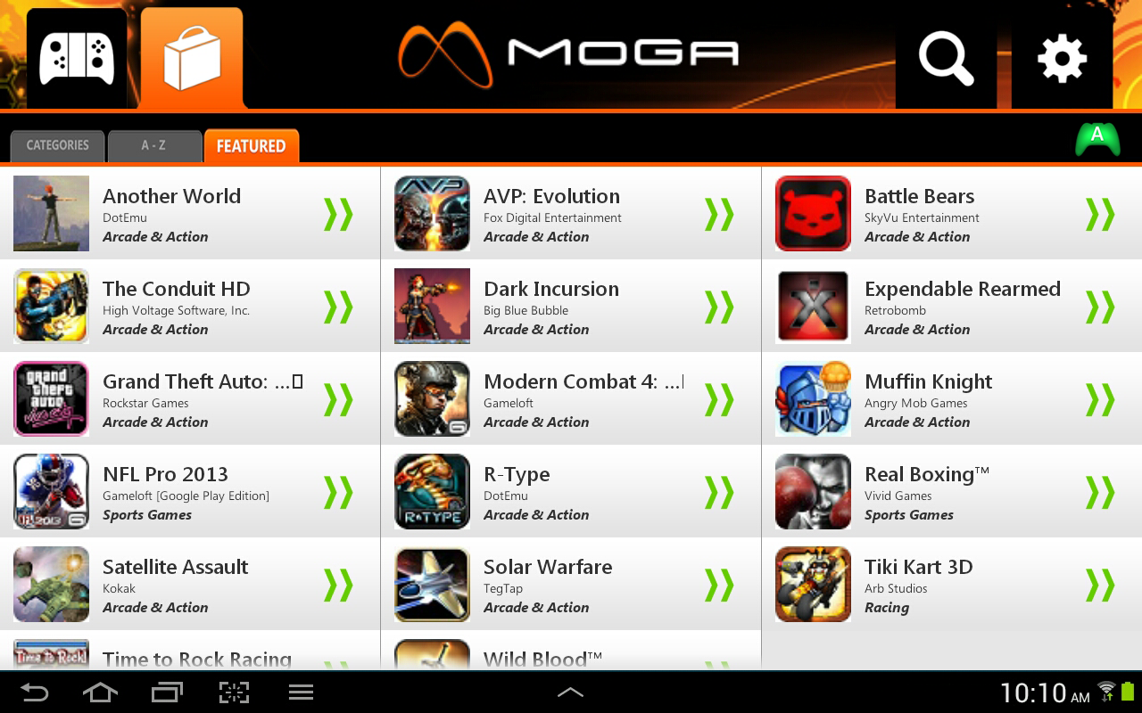 MOGA Pivot - screenshot