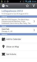 Screenshot of Giger - Music Concerts