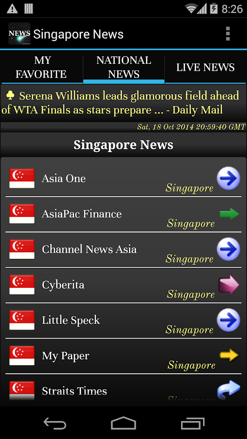 Singapore Live News Papers- screenshot