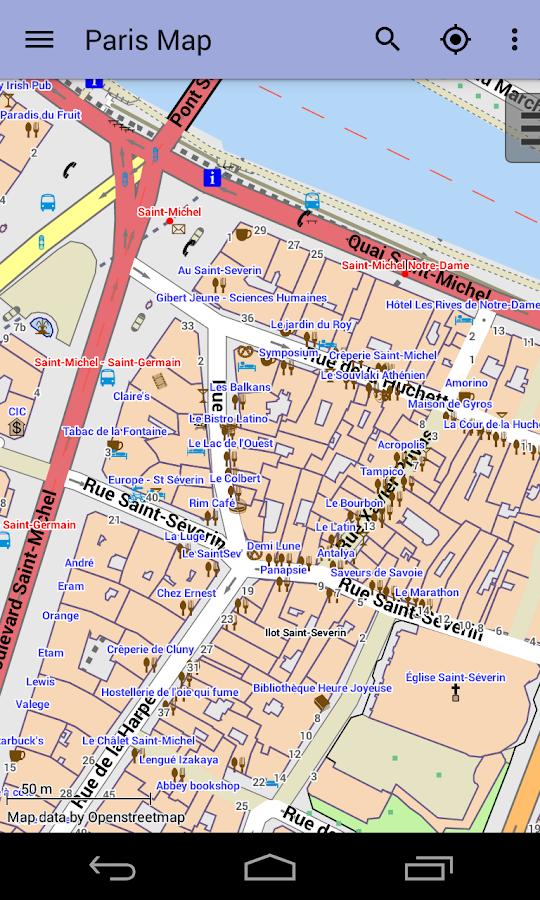 карта г париж: