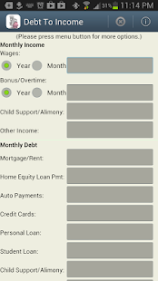 Debt to Income -DTI Calculator