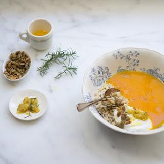 Pumpkin and Rice Soup.