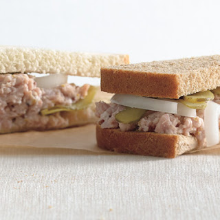 Deviled Ham and Pickle Sandwiches.