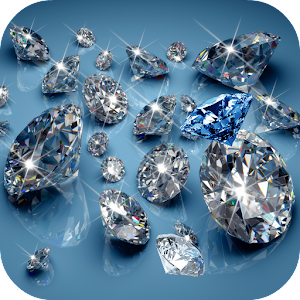 Falling Blue Diamonds Background