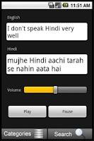 Screenshot of English to Hindi Translator