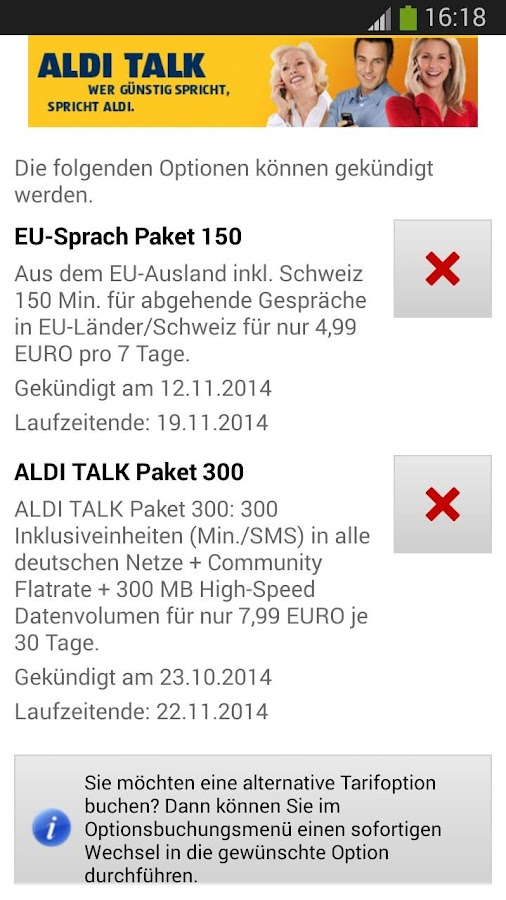 ALDI TALK - screenshot