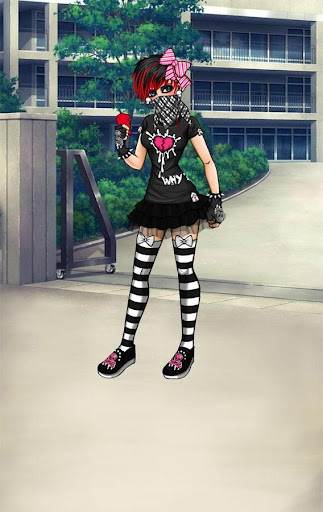 【免費休閒App】Emo Girl Dress Up Games-APP點子