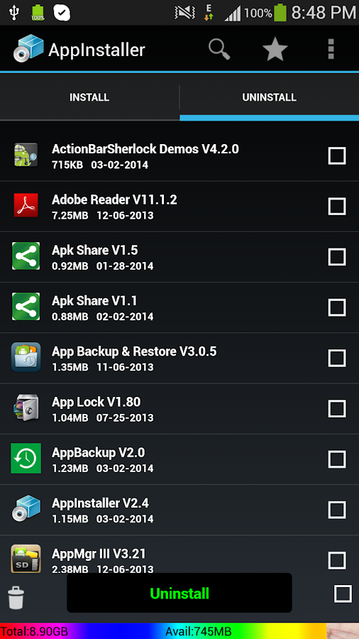 Apk installer For Android - screenshot