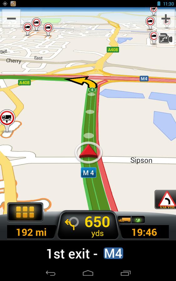 CoPilot Truck France - screenshot