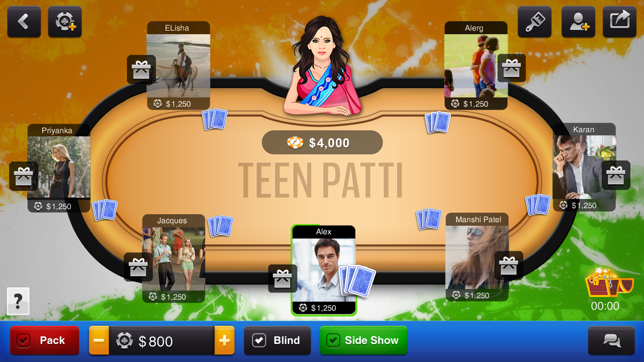 online card games teen patti