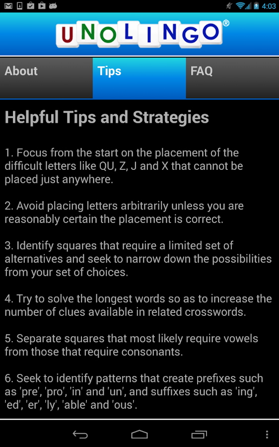 Unolingo: No Clue Crosswords - screenshot