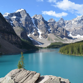 Moraine Lake by Jennifer Parmelee - Landscapes Mountains & Hills ( mountains, nature places, landscapes )