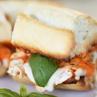 Italian Chicken Hoagies with Roasted Red Pepper Sauce