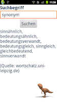 Screenshot of Thesaurus Deutsch